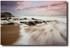 foamy sunset (liipgloss) Tags: ocean longexposure sunset sea seascape water newcastle landscape rocks wave australia merewether 1740l barbeach 5dii brendaashley