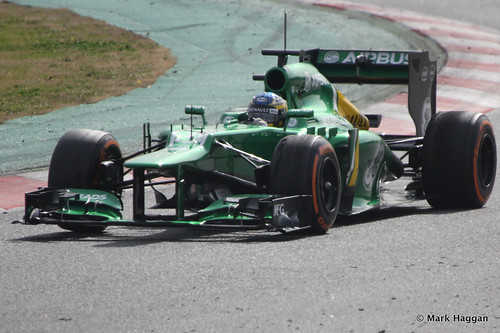 Charles Pic in his Caterham at Formula One Winter Testing, 3rd March 2013