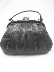 "1930s Art Deco Leather Handbag • <a style=""font-size:0.8em;"" href=""http://www.flickr.com/photos/92035948@N03/8549678592/"" target=""_blank"">View on Flickr</a>"