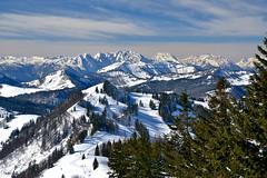 The Osterhorn mountains and the Berchtesgaden Alps in deep March snow (echumachenco) Tags: schnee snow alps austria march österreich alpen märz steinernesmeer föhn salzkammergut stgilgen zwölferhorn watzmann greatphotographers hochkalter reiteralpe hohergöll osterhorngruppe mygearandme mygearandmepremium nikond3100