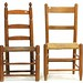 113. (2) 19th Century Rush Seat Ladderback Chairs