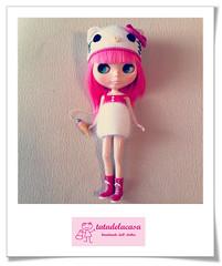 """Set """"Kitty"""". Mi donación para el BlytheCon Barcelona (Gorrito + vestido)"""