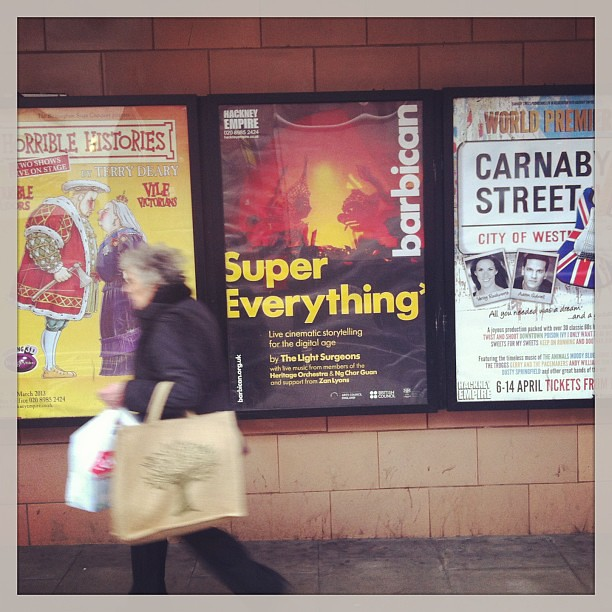 Big poster is up out side Hackney Empire! Make sure you book your seat for #supereverthing on the 19th of April people!!