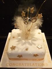 50th Wedding Anniversary (Victorious_Sponge) Tags: wedding cake stars 40th golden anniversary 40 50th 50