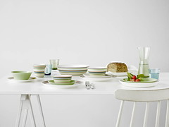 Origo Teema and Kartio (Dinner Series) Tags: green design finnish iittala dinnerware glassware origo teema didriks