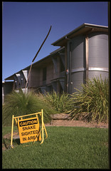 Snake Country (heritagefutures) Tags: school building warning campus university fuji snake environmental australia