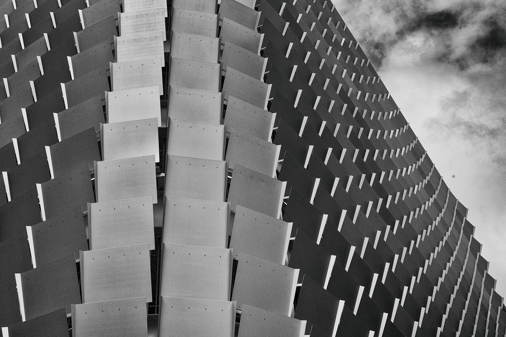 0fae06ab8203 Tiled Up (QuikSink) Tags  blackandwhite bw building texture architecture  clouds grey adelaide panels