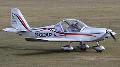 MAINAIR FLYING SCHOOL G-CDAP (EVEKTOR AEROTECHNIK EV97 EUROSTAR) (Roger Lockwood) Tags: bartonairfield gcdap mbregcb mainairflyingschoolgcdap flickrphotoofgcdap evektoraerotechnikev97eurostar