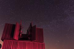 The Tower... (Phil 'the link' Whittaker (gizto29)) Tags: sky night stars astro northumberland andromeda astrophotography nightsky comet f28 milkyway darkskies panstarrs kielderobservatory