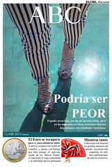 El Peridico ABC (HECTOR VALDIVIA) Tags: espaa woman beautiful fashion newspaper moda chorizo abc elpais peridico chorizos elperidico crisisespaa