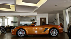 Porsche Boxster S (Gabrielgbg) Tags: orange woman car laranja s porsche blonde carro boxster roadster 991 metalico conversivel