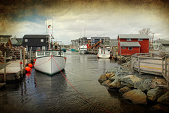Gray Day at the Cove (sminky_pinky100 (In and Out)) Tags: travel winter canada tourism water landscape boats fishing dock community rocks novascotia harbour jetty scenic textures coastal inlet buoys shacks easternpassage fishermanscove omot cans2s exhibitionoftalent masterclassexhibition imageexcellence