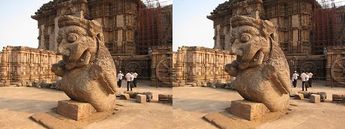Konark India, stereo photo (parallel)