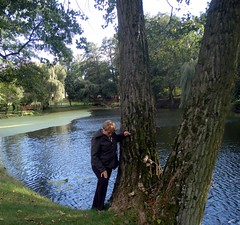 P9230085 (maya_dragonfly) Tags: park people woman tree nature landscape ilovenature pond europe poland olympus goldenmix szafarnia autumn12
