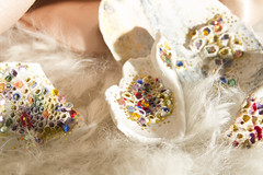 Magic objects (B_Zedan) Tags: glitter fairytale fur gold shell sparkle dirt sequin folktale