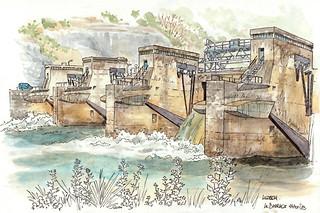 Luzech, le barrage