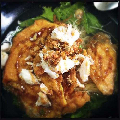 แสะกินข้าวเช้าที่ เจ็กเม้ง เพชรบุรี