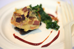 Bacon bread pudding with house-made kimchi and bacon caramel - CRU Kitchen and Bar - Baconfest 2013.jpg (opacity) Tags: food chicago illinois il cru baconfest uicforum baconfestchicago chicagobaconfest baconfest2013 baconfestchicago2013 chicagobaconfest2013 baconfest2013dishes baconbreadpuddingwithhousemadekimchiandbaconcaramel crukitchenandbar