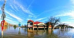 Peoria Waterfront , Illinois, The Landing (jay_babin) Tags: street water kitchen station river illinois flood peoria rythym