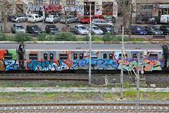 Rome trains 2013 (STEAM156) Tags: italy rome subway graffiti travels photos trains vandalism runners panels wholecars steam156