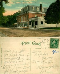 Newark Opera House, Post Office, and trust Co., Newark, Del (Delaware Public Archives) Tags: music money art theater post mail letters bank communication business entertainment savings postage loan