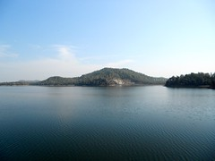 Flow with life (Veena-Nair) Tags: life blue india lake water restful tranquility hills maharashtra ripples calmandquiet navegaon smallhappiness flowwithlife positiveripples
