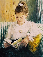Menina lendo, 1998 (Peregrina Cultural) Tags: art reading books livros pintura imagemdeleitura