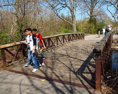 Turtle Pond Pedestrian Bridge, Bronx Zoo, New York City (jag9889) Tags: park city nyc bridge wild ny newyork nature animals zoo crossing footbridge belmont bronx pedestrian bronxzoo species borough waterway habitats zoological wcs bronxpark wildlifeconservationsociety naturalistic