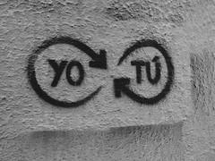 (belnre) Tags: tu yo love infinite amor infinito picture street chile quotes couple sony black white