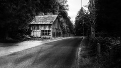 Another Road. (Grf f the Pp [@Grfbd]) Tags: road bw house oldworkshop france trees nature county path