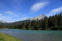 """Bow River (Xsbmrnr (Please read profile before """"following"""") Tags: alberta bowriver water river canoneos7d canon7d canon sky clouds"""