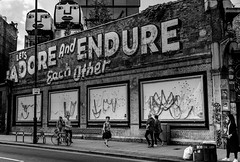 Adore and Endure (darren.cowley) Tags: adore endure greateasternstreet shoreditch gallery darrencowley london streetart urban brick slogan modern