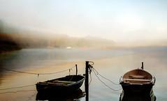 boats (augustynbatko) Tags: boats lake water fog mist landscape nature