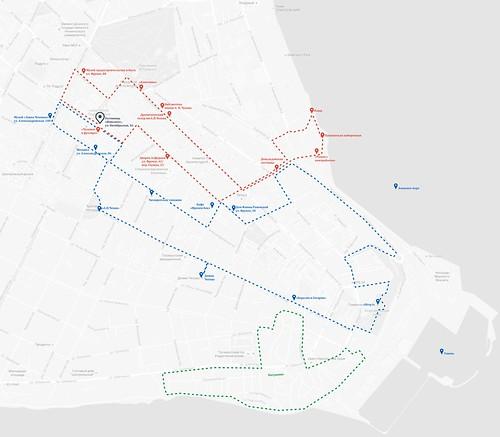 карта достопримечательностей Таганрога