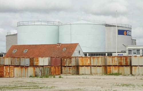 Container im Hafen von Esbjerg, Dänemark  (4)