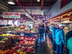Let's Check It Out - Vancouver, Canada (, ) (dlau Photography) Tags: vancouver canada   checkitout huge market farmersmarket      warehouse   travel tourist vacation visitor people lifestyle life style sightseeing   trip   local   city  urban tour scenery   weather   indoor