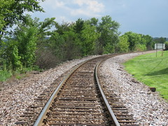 Tracks along the river (JJP in CRW) Tags: iowa leclaire