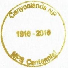 Canyonlands NP - NPS Centennial (2) (colinLmiller) Tags: 2016 passport stamp rubberstamp nps blm nationalparkservice bureauoflandmanagement bonus green canyonlandsnationalpark moab utah