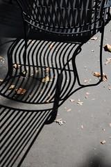 Street Shadows (Ian Bramham) Tags: shadows seat paris photo ianbramham