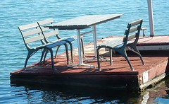 For Sloped Dining (mikecogh) Tags: westlakes pontoon slope table chairs