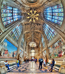 Houses of Parliament. St Stephen's Hall (Londonietis) Tags: housesofparliament ststephenshall vertorama panorama hdr london england londonietis kestasbalciunas photomatix canon samyang britain ceiling architecture