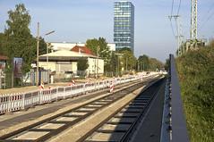 Blick von der Sttzmauer in Richtung Schleife (Frederik Buchleitner) Tags: baustelle bergamlaim haidhausen linie25 mvg munich mnchen neubaustrecke steinhausen strasenbahn streetcar tram trambahn