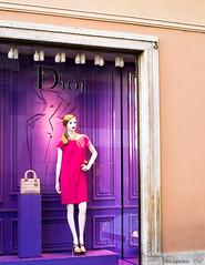 spring 2013 (KLAVIeNERI) Tags: pink italy rome mannequin fashion spring photographer hautecouture dior x1 viacondotti mingthein leicaforum thorstenovergaard leicax1 leicaimages lightroom4 ilovemyleica photographersontumblr