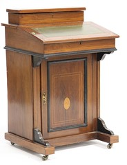 50. Edwardian Davenport Desk