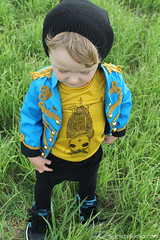 Vincent: Signature Look (Max-California) Tags: blue boy look club hearts skinny gold diy pattern pants handmade ninja military signature bat vincent band style crotch flashback jacket mustard beatles peppers lonely blazer tee globes dropped basic sgt prp maxcalifornia projectrunandplay