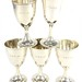 2032. Assembled Set of Five Sterling Silver Goblets