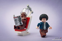 Changing hair style (storm TK431) Tags: magazine hair starwars lego style chewie chewbacca esquire hansolo legography