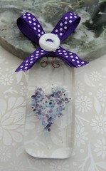 Blueberry Way Sun Catcher (Glittering Prize - Trudi) Tags: blue sun love glass heart suncatcher catcher trudi fused glitteringprize britcraft britishcrafters