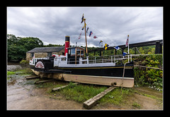 PS Monarch at Morwellham Quay (Travels with a dog and a Camera :)) Tags: uk england west art digital photoshop boat dc pentax unitedkingdom south paddle sigma august quay devon monarch 1020mm steamer 43 lightroom kx 2011 cs6 morwellham 1456 justpentax artpentax dcsouth 43morwellham quaypentax kxphotoshop cs6sigma weststeamer
