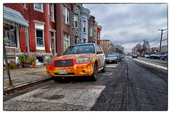 Psychedelic Subaru - Baltimore, MD (gastwa) Tags: street urban reflection car truck landscape dc washington nikon focus scenery angle wide shift maryland wideangle andrew baltimore full frame 24mm manual fullframe fx tilt sensor d800 f35 tiltshift pce yabbadabbadoo gastwirth d800e andrewgastwirth